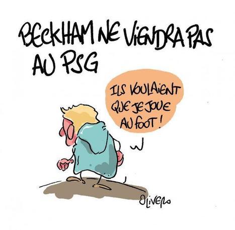 Beckham ne viendra pas au PSG   Baie d'humour   Scoop.it