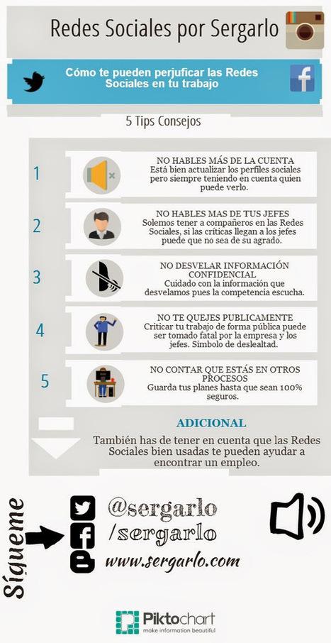 Cómo las Redes Sociales pueden perjudicar tu trabajo #infografia #socialmedia #empleo | Marketing  Online - Carlos Ruiz | Scoop.it