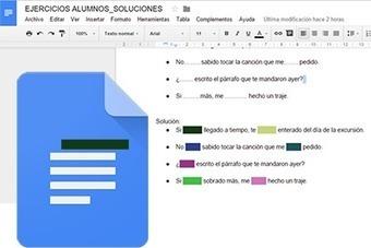 Dale la solución a tus alumnos..pero cuando lo necesiten | Documentos de Google | Scoop.it