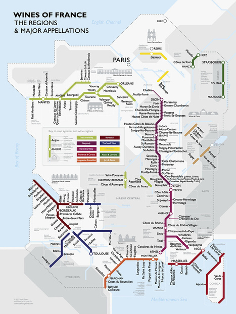 La carte des vins de France comme un plan de métro ! | A table ! | Scoop.it