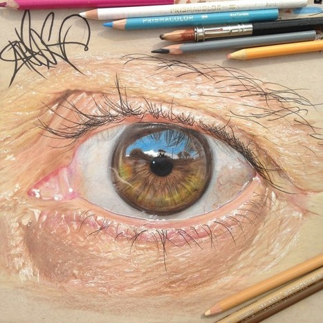 Des dessins hyperréalistes d'oeils au crayon   Illustration et dessin   Scoop.it