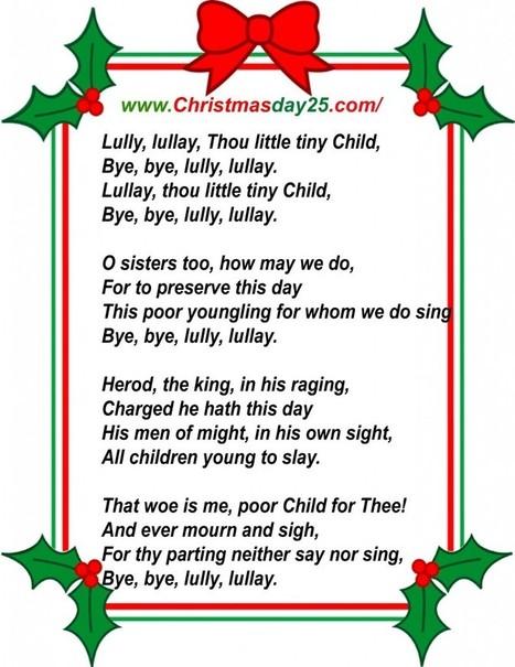 Christmas Carols Lyrics | Christmas Day 25 | Christmas | Scoop.it
