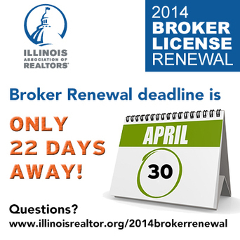 Illinois Broker License Renewal Deadline is 22 Days Away | Real Estate Plus+ Daily News | Scoop.it