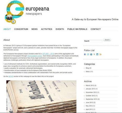 Europeana Newspapers : 18 partenaires européens s'unissent pour faciliter l'accès à la presse numérisée   Gallica.   Genéalogie   Scoop.it