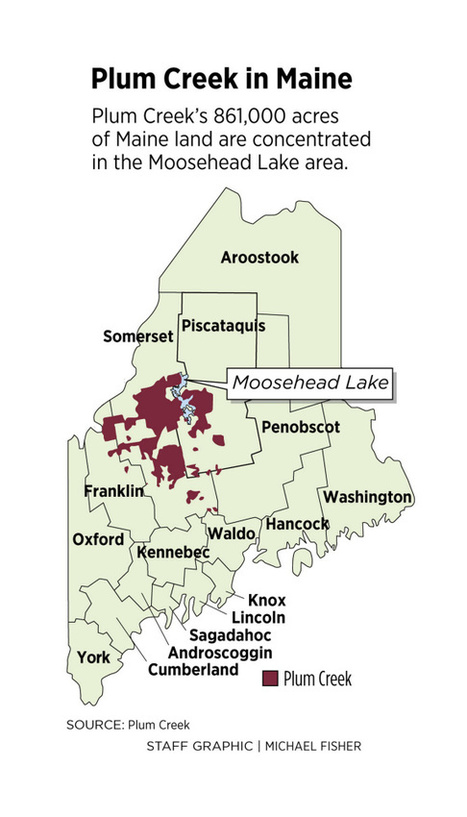 For now, few changes in Maine as major timberland owner Plum Creek agrees to merger | Timberland Investment | Scoop.it