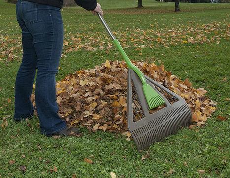 Clog-Free Yard Rakes : leaf rake   Gardening   Scoop.it