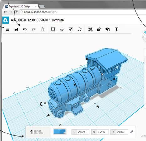 AutoDesk123D Design : un outil gratuit et puissant pour l'édition 3D   Ressources pour la Technologie au College   Scoop.it