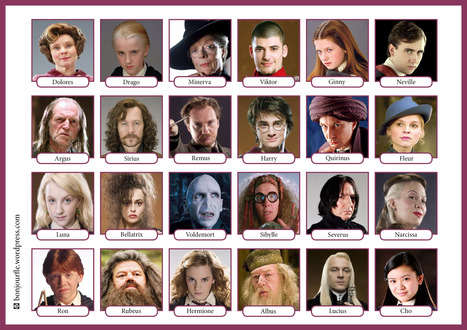 Qui est-ce ? Version Harry Potter | Ressources visuelles de FLE | Scoop.it