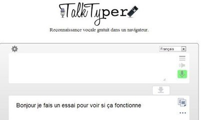 En ligne : dictée vocale : TalkTyper - Ressources-Ecole | TUICE_Université_Secondaire | Scoop.it