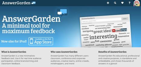 AnswerGarden - A minimal tool for maximum feedback | eScience | Scoop.it