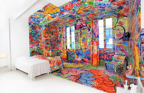Look At This! Graffiti Hotel Room In France | Art Museums Trends | Scoop.it