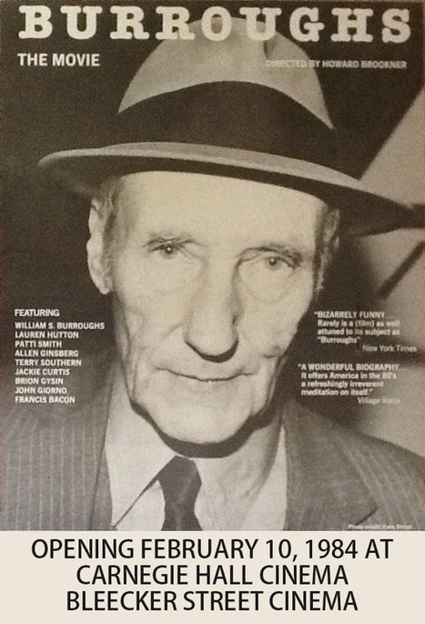 Burroughs - The Movie - Support the Restoration - ikonotv | Howard Brookner | Scoop.it