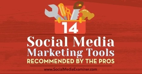 14 Social Media Marketing Tools Recommended by the Pros : Social Media Examiner | brave new world | Scoop.it