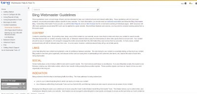 Bing Webmaster Guidelines Get anUpdated | Technical & Social News | Scoop.it