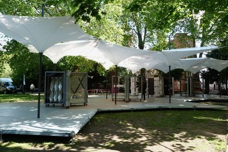 grimshaw uses a modular canopy system for lightweight tensilation pavilion | Inspired By Design | Scoop.it