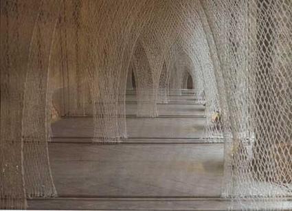 "Toshiko Horiuchi Macadam: ""Fibre Columns / Romanesque Church"" | Art Installations, Sculpture, Contemporary Art | Scoop.it"
