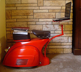 Old Vespa transformed into quirky workstation - Holy Kaw! | Local Economy in Action | Scoop.it