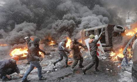 Kiev becomes a battle zone as Ukraine protests turn fatal | This is Your World | Scoop.it