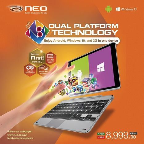 Neo Shift N81 Dual-Boots Windows 10 and Android, Priced at P8,999 | Gadget Milk Philippines | Tech and Gadgets | Scoop.it