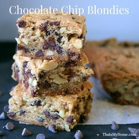 Chocolate Chip Blondies #chocolatechipcookies #cookierecipes   Food   Scoop.it