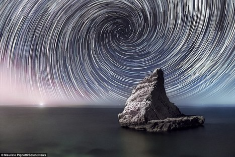 That's streaking amazing! Star trails and the Milky Way are revealed in ... - Daily Mail | Holidays in Marche | Scoop.it