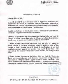 Le Haut commissariat des droits de l'homme préoccupé par les violences en Guinée | Droits de l'Homme_Elodie Randrianarijaona | Scoop.it
