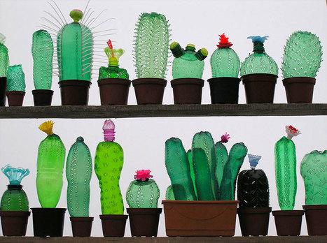 PET art Comment transformer des bouteilles plastiques en une forme artistique ! | Ca m'interpelle... | Scoop.it