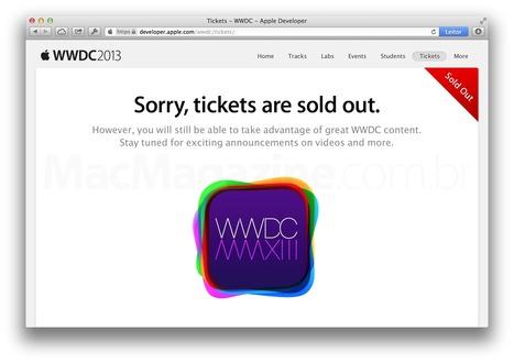 ↪ Ingressos para a WWDC 2013 se esgotam em apenas dois minutos! | Apple Mac OS News | Scoop.it