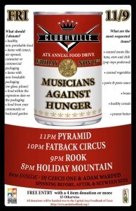 (11/9) Preview: Musicians Against Hunger benefit at Club DeVille   Red River Noise   Topics of Interest - general   Scoop.it