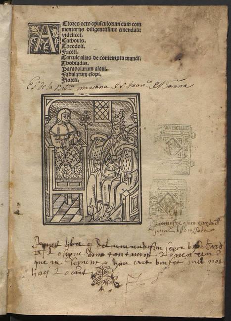 40 incunables únics a Espanya incorporats al BiPaDi i recollits pel Gesamtkatalog der Wiegendrucke (GW) | Llibres i llibreries | Scoop.it