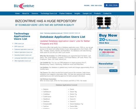 Database Application Vendors List | Bizcontrive | Scoop.it