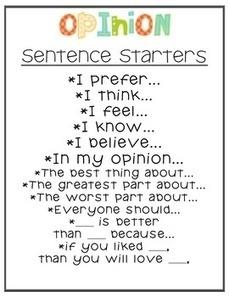 Opinion Writing Unit: My Opinion Matters | Literacy | Scoop.it