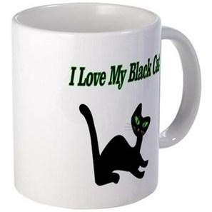 I Love My Black Cat Mug> I Love My Black Cat> Flamin Cat Designs | CafePress Designs Via Flamin Cat Designs And Friends | Scoop.it