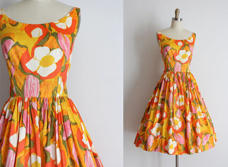 vintage 1950s sun dress | whats been spotted on etsy today? | Scoop.it