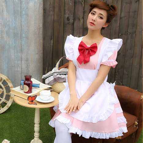 Classic Japanese Women's Maid Cafe Cosplay Uniform   Favorite Costumes   Scoop.it