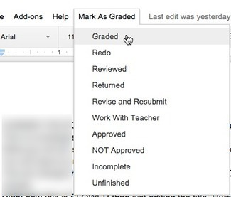 Google Docs: Mark As Graded | Using Google Drive in the classroom | Scoop.it