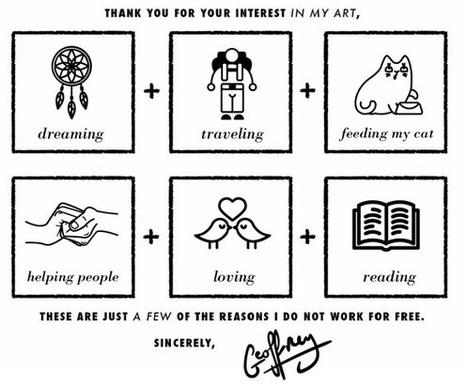 Vos 6 raisons de ne pas travailler gratuitement ! | Entrepreneurs du Web | Scoop.it