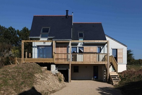 A BIOCLIMATIC HOUSE  IN THE GULF OF MORBIHAN, BRITTANY, by a.typique Patrice BIDEAU architecte DPLG -archilist eu | architecture..., Maisons bois & bioclimatiques | Scoop.it