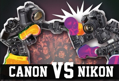Canon versus Nikon ★ Autour du rézo | infographies | Scoop.it