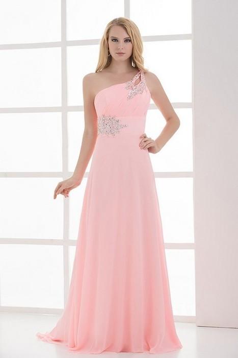 Enticing Sleeveless Floor-Length Pink Prom Evening Dress | Fashion Dresses | Scoop.it