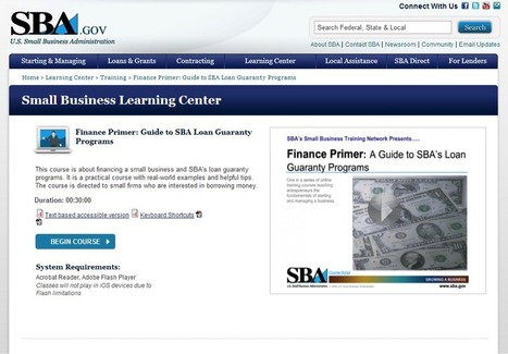SBA Small Business Learning Center: Training, Tools and Answers via Your Desktop | SBA.gov | Online Business Education | Scoop.it