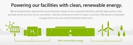 Les data-centers Apple alimentés à 100% par des énergies renouvelables | RT2012 | Scoop.it