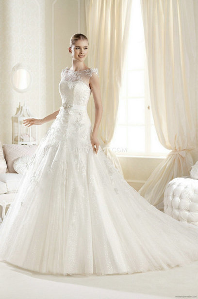 Only Price - $332.00 wedding gown - Style La Sposa Illeska floor length A-Line For sale | Maggie-Sottero 2013 | Scoop.it