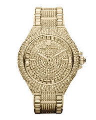 Mid-Size Golden Stainless Steel Camille Three-Hand Glitz Watch | women's fashion and beautiful pic | Scoop.it