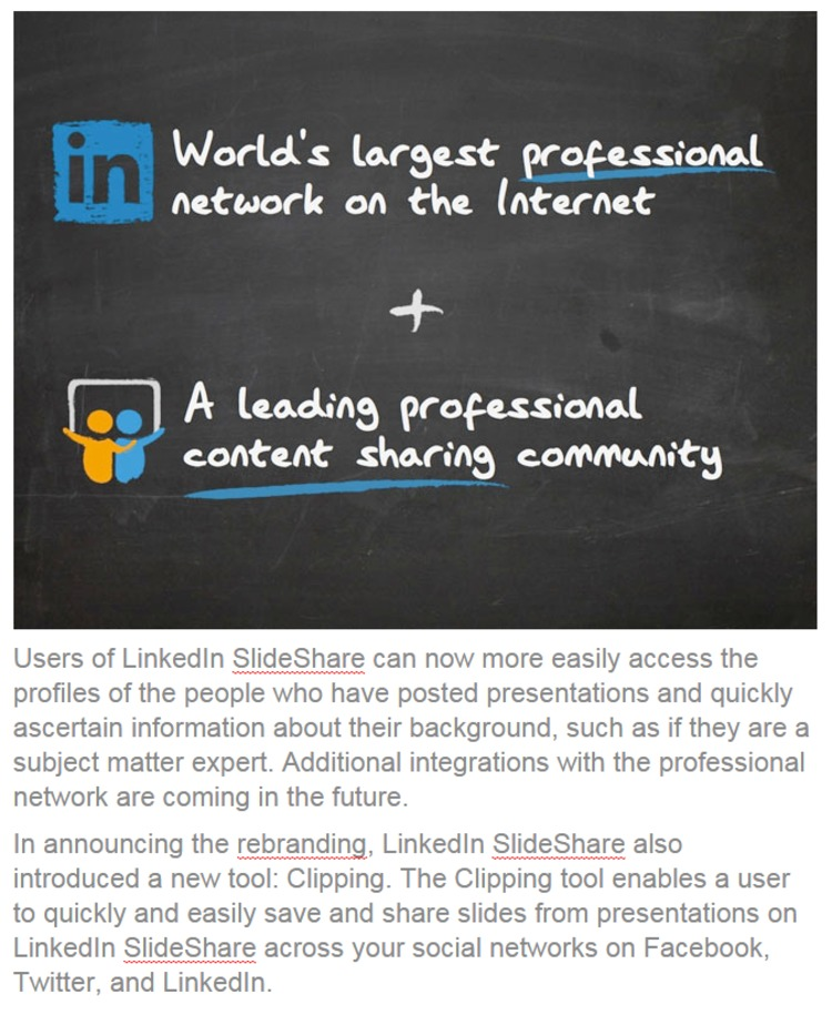 What the LinkedIn SlideShare Enhancements Mean for Marketers - LinkedIn | The Marketing Technology Alert | Scoop.it