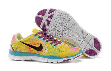 Nike Free TR Fit 3 Breathe Womens Running Shoes Printing Yellow White | Nike Running Shoes | Scoop.it