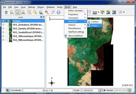 Quantum GIS (QGIS) Tutorials: Tutorial: Working with Rasters in QGIS - Mosaicing and Subseting   Kanchanz   Scoop.it