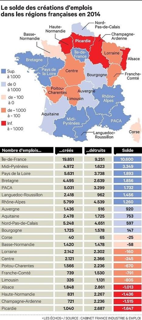Emploi: les régions qui repartent, celles qui patinent | La revue du web de la MD3E : Emploi - Formation - Economie | Scoop.it