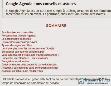 Bien maîtriser Google Agenda | Info tips | Scoop.it