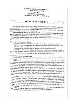 Réglement interieur du collège | Derniers articles du site! | Scoop.it